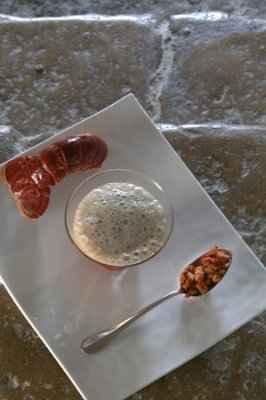 recette - le velouté mousseux de homard dit