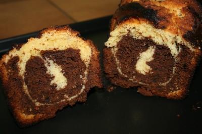 recette - marbré vanille chocolat