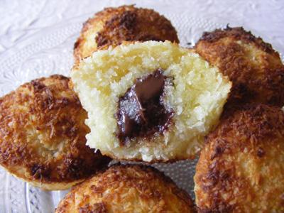 recette - moelleux coco, coeur de chocolat