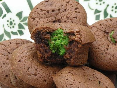 recette - petits moelleux au chocolat coeur à la pistache