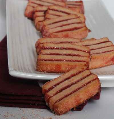 recette - sablé surprise à la groseille & poudre de biscuit rose fossier