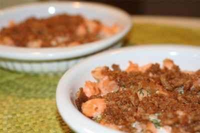 recette - saumon en crumble
