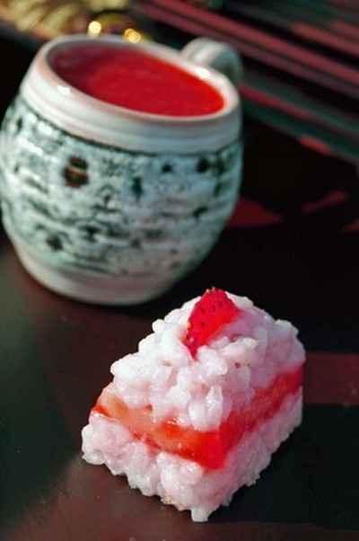 recette - sushis à la fraise