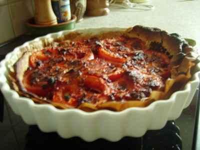 recette - tarte a la moutarde et tomates