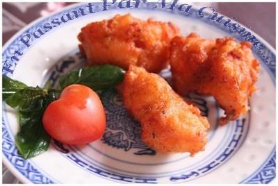 recette - beignets soufflés de tomates au jambon