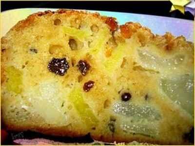 recette - cake léger aux poires et cardamome