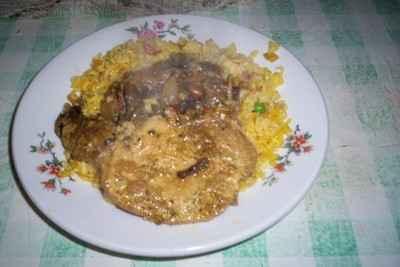 recette - c�tes de porc aux c�pes