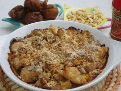 recette - crumble de poulet aux figues