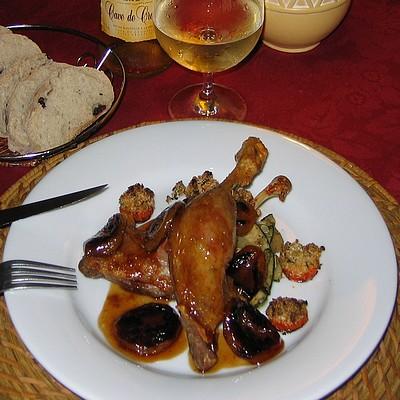 recette - cuisses de canettes confites à l'abricot du roussillon