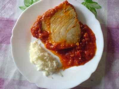 recette - darnes de thon à la tomate