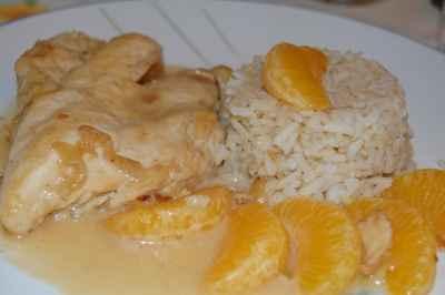 recette - escalope de poulet au miel et aux clémentines
