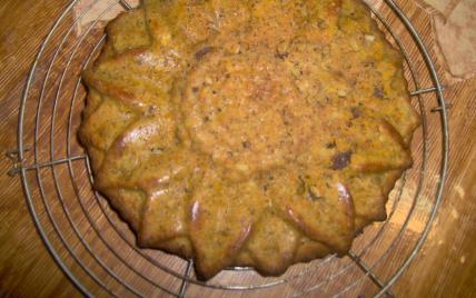recette - gâteau aux carottes, raisins et noisettes