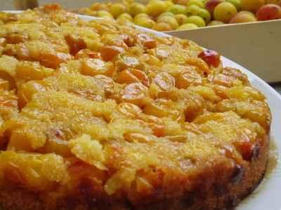 recette - gâteau renversé aux mirabelles