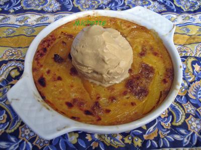 recette - gratin de mangue et sa glace de pain d'épices