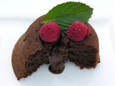 recette - moelleux coulant au chocolat noir corsé