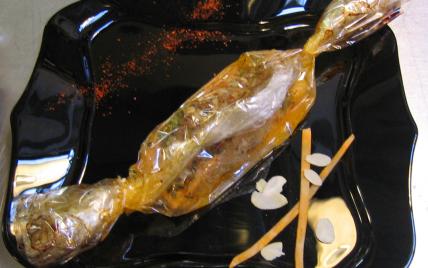 recette - papillote de saumon sucrée salée à la patate douce