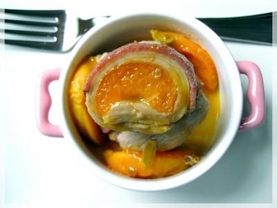 recette - piccatas de veau au magret fumé et abricot parfumé aux épices