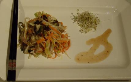 recette - salade tiède d'oreille de cochon