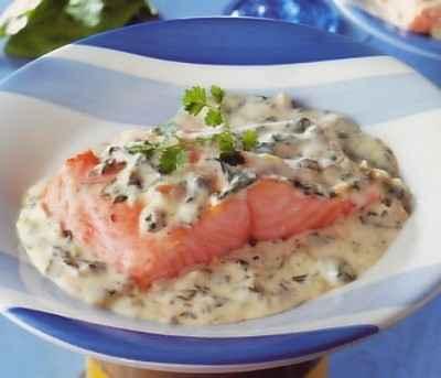recette - saumon à l'oseille