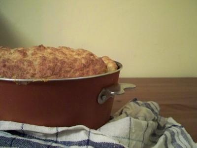 recette - soufflé de poulet au parmesan