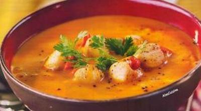 recette - soupe aux pétoncles