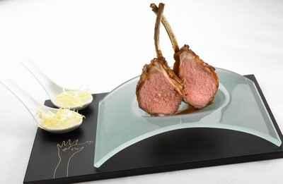 recette - sucettes d'agneau, salade tiède de chataignes