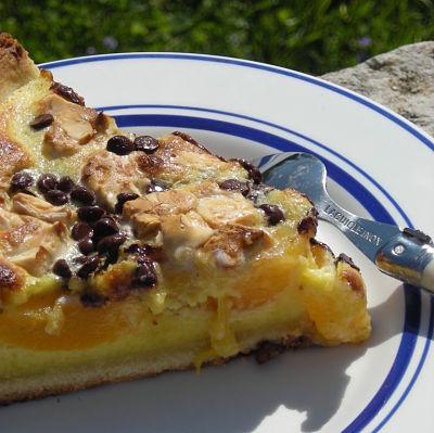 Recette tarte aux abricots clats de nougat et p pites de chocolat facile et rapide - Recette tarte aux chocolat ...