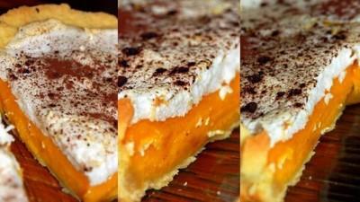 recette - tarte bicolore aux potimarrons