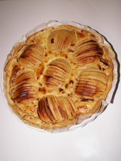 recette - tarte normande du chef