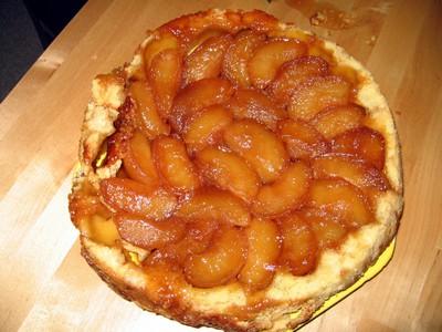 recette - tatin de pommes fondantes au caramel d'érable