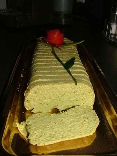 recette - terrine de courgettes au fromage de chévre et thon
