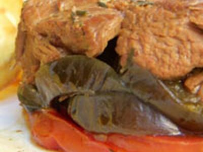 recette - tian d'agneau confit, aubergines & tomates