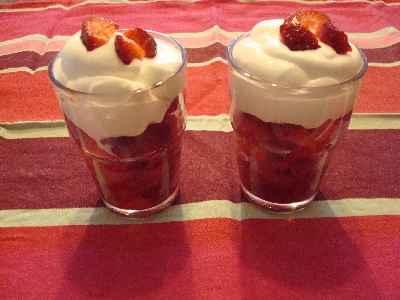 recette - trifle tout rose