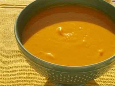 recette - velouté de potimarron au lait de coco