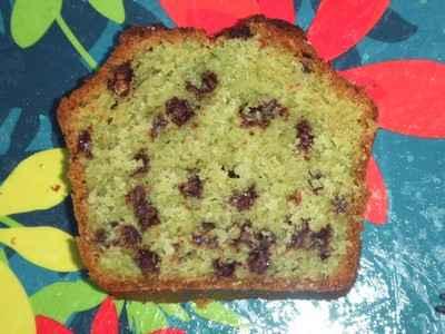 recette - cake à la pistache et aux perles choco craquantes