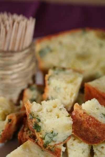 recette - cake au persil et aux ravioles de romans