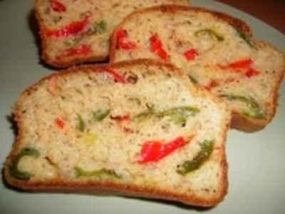 recette - cake au thon et aux poivrons