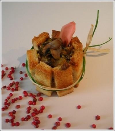 recette - charlottes aux champignons de paris