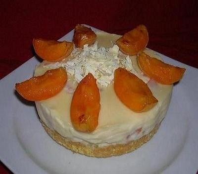 recette - cheesecake au chocolat blanc et abricot