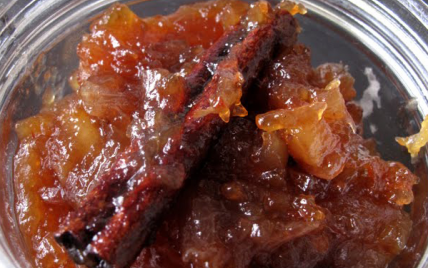 recette - chutney de pommes aux échalotes