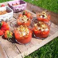recette - compote craquante fraises rhubarbe