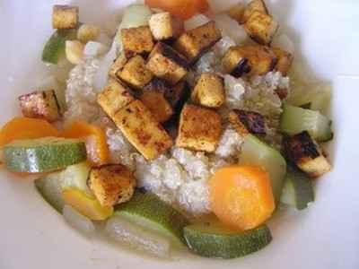 recette - couscous de quinoa au tofu