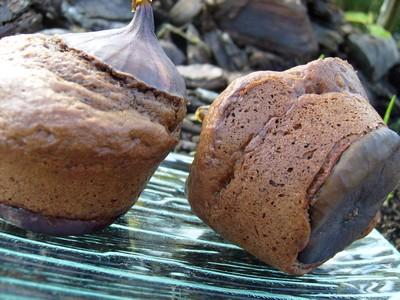 recette - figues en moelleux au chocolat noir et pandan !