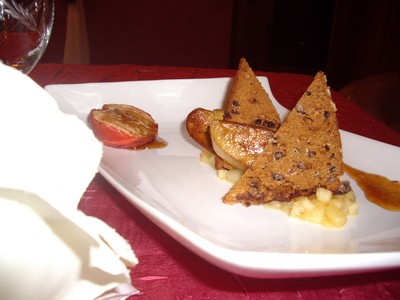 recette - foie gras sur son nid reinettes foncdantes