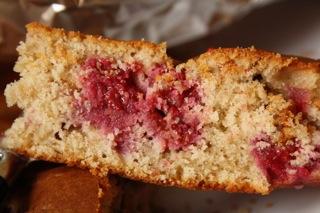 recette - gâteau framboises, ricotta, noisettes