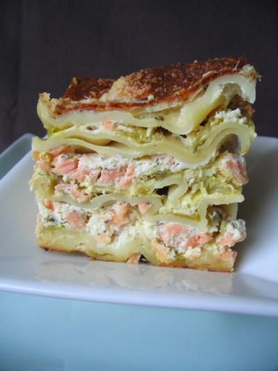 Recette lasagnes aux deux saumons et poireaux facile et - Lasagne facile et rapide ...