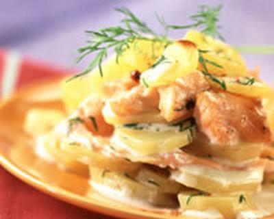 Recette lasagnes de pommes de terre aux deux saumons - Lasagne facile et rapide ...