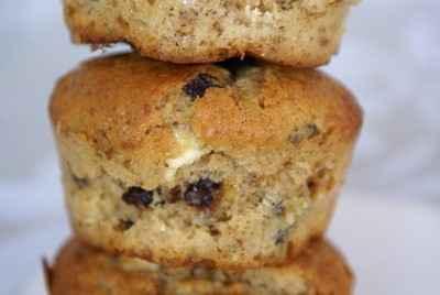 recette - muffins d'épautre au pralin et pépites aux deux chocolats
