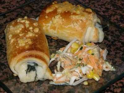 recette - pains moelleux au fromage et epinards