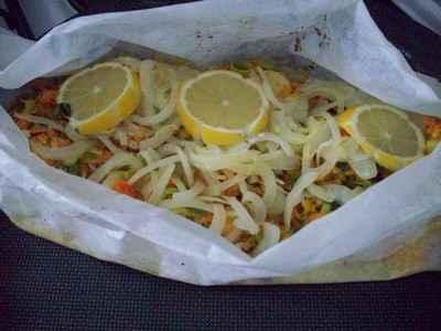 recette - papillote de poisson